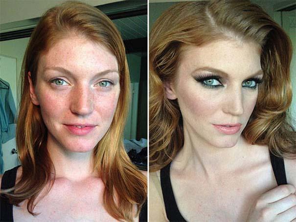 Φωτογραφίες πριν και μετά το μακιγιάζ που θα νομίζεις πως βλέπεις άλλον άνθρωπο (9)
