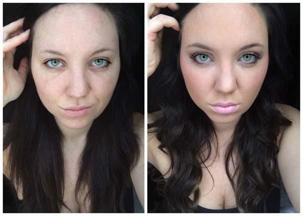 Φωτογραφίες πριν και μετά το μακιγιάζ που θα νομίζεις πως βλέπεις άλλον άνθρωπο (15)