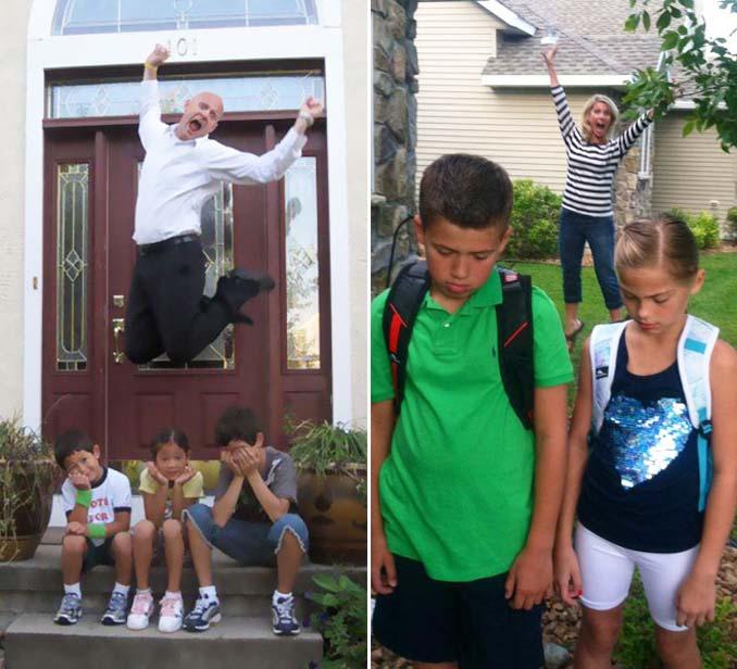 Γονείς που στέλνουν τα παιδιά τους πίσω στο σχολείο (5)