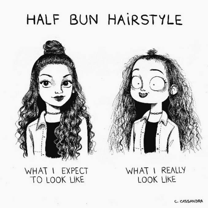 Γυναικεία προβλήματα με τα μαλλιά μέσα από χιουμοριστικά σκίτσα (3)