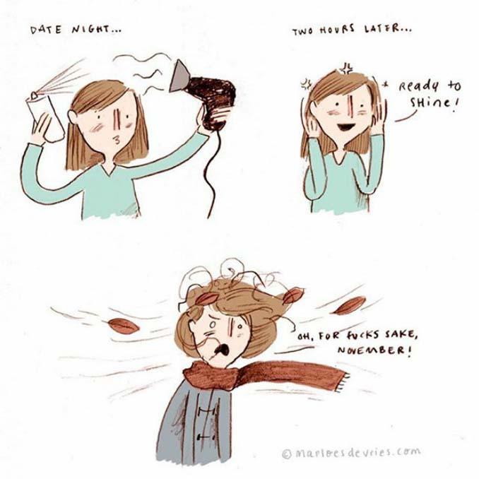 Γυναικεία προβλήματα με τα μαλλιά μέσα από χιουμοριστικά σκίτσα (5)