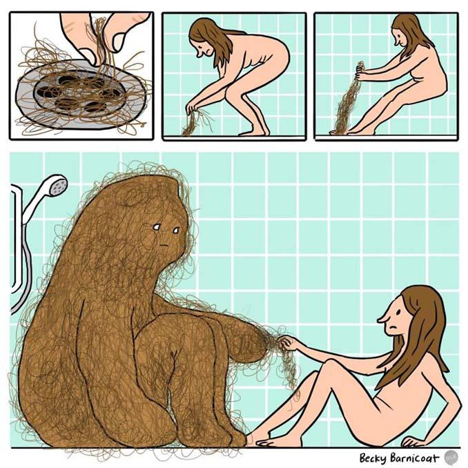 Γυναικεία προβλήματα με τα μαλλιά μέσα από χιουμοριστικά σκίτσα (12)
