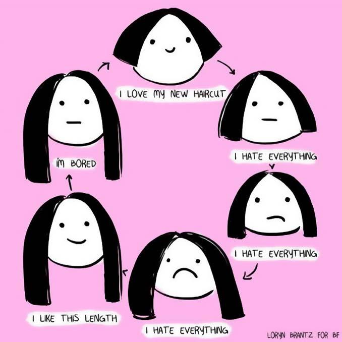 Γυναικεία προβλήματα με τα μαλλιά μέσα από χιουμοριστικά σκίτσα (22)