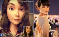 Καλλιτέχνης μεταμορφώνει αγνώστους σε 3D χαρακτήρες της Pixar (1)