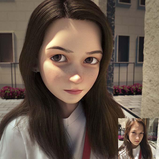 Καλλιτέχνης μεταμορφώνει αγνώστους σε 3D χαρακτήρες της Pixar (18)