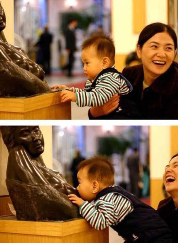 Ξεκαρδιστικές φωτογραφίες ανθρώπων που ποζάρουν με αγάλματα (8)