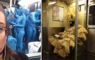 Παράξενες και κωμικοτραγικές φωτογραφίες στα μέσα μεταφοράς #27