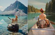 Οι περιπέτειες μιας πανέμορφης γάτας στην άγρια φύση του Καναδά (23)