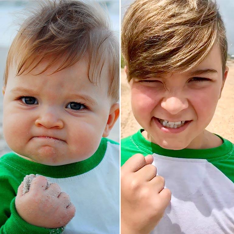 Το «Success kid» πριν από 10 χρόνια και σήμερα   Φωτογραφία της ημέρας