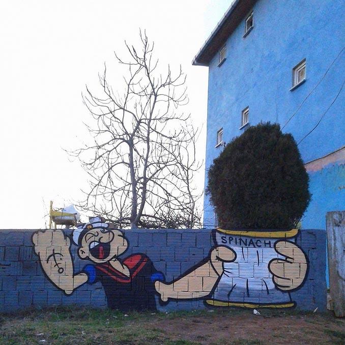 Το Street Art του Popeye | Φωτογραφία της ημέρας