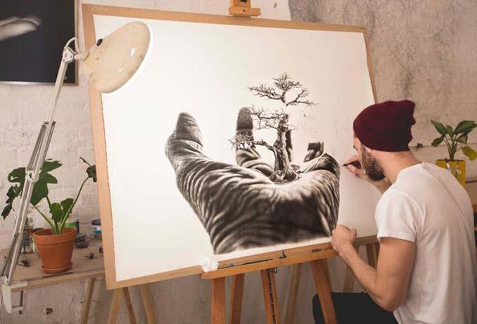 Τεράστια υπερρεαλιστικά έργα τέχνης με μολύβι από τον Jono Dry (4)