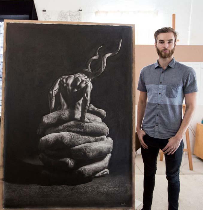 Τεράστια υπερρεαλιστικά έργα τέχνης με μολύβι από τον Jono Dry (5)