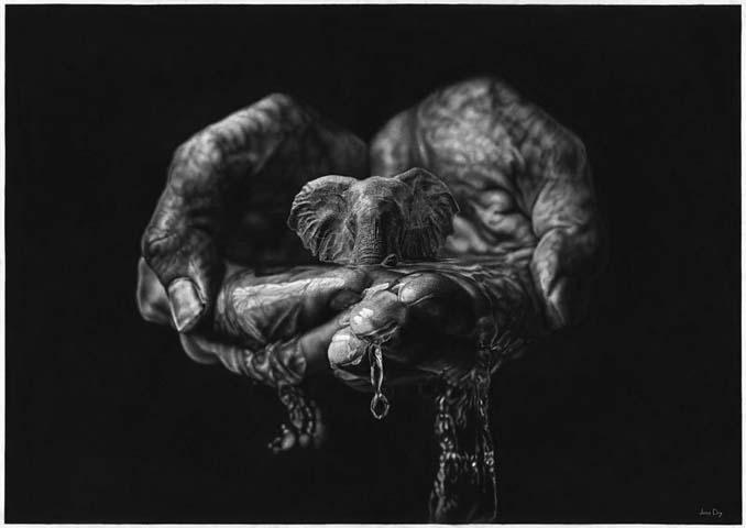 Τεράστια υπερρεαλιστικά έργα τέχνης με μολύβι από τον Jono Dry (8)