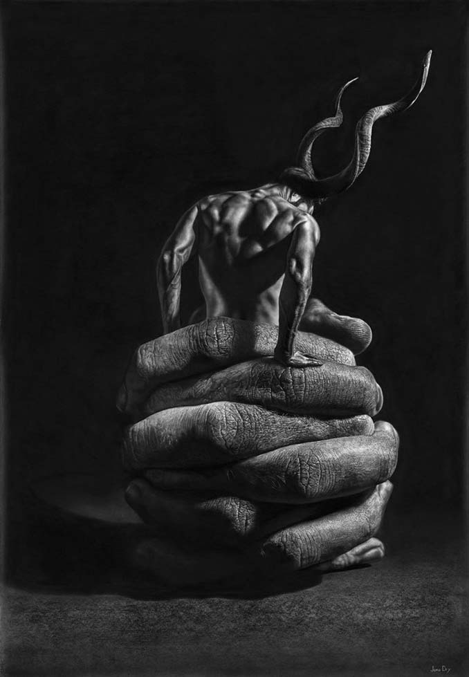 Τεράστια υπερρεαλιστικά έργα τέχνης με μολύβι από τον Jono Dry (11)