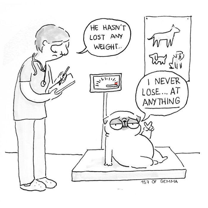 Χαριτωμένα χιουμοριστικά σκίτσα δείχνουν πως είναι να ζεις με έναν σκύλο (6)