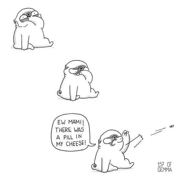 Χαριτωμένα χιουμοριστικά σκίτσα δείχνουν πως είναι να ζεις με έναν σκύλο (8)