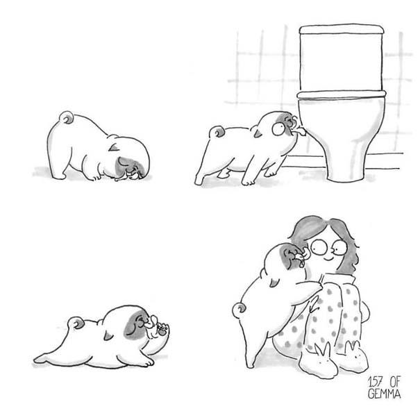Χαριτωμένα χιουμοριστικά σκίτσα δείχνουν πως είναι να ζεις με έναν σκύλο (13)