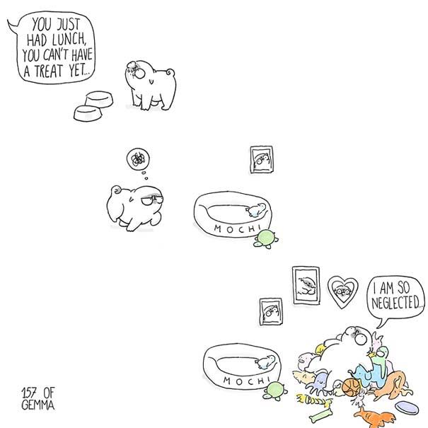 Χαριτωμένα χιουμοριστικά σκίτσα δείχνουν πως είναι να ζεις με έναν σκύλο (17)