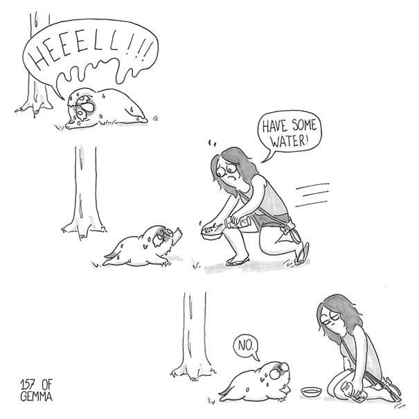 Χαριτωμένα χιουμοριστικά σκίτσα δείχνουν πως είναι να ζεις με έναν σκύλο (24)