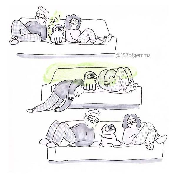 Χαριτωμένα χιουμοριστικά σκίτσα δείχνουν πως είναι να ζεις με έναν σκύλο (25)