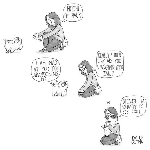 Χαριτωμένα χιουμοριστικά σκίτσα δείχνουν πως είναι να ζεις με έναν σκύλο (27)