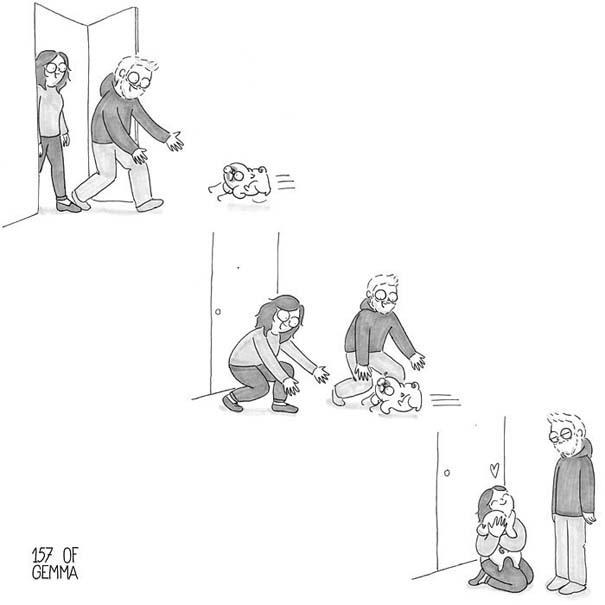 Χαριτωμένα χιουμοριστικά σκίτσα δείχνουν πως είναι να ζεις με έναν σκύλο (29)