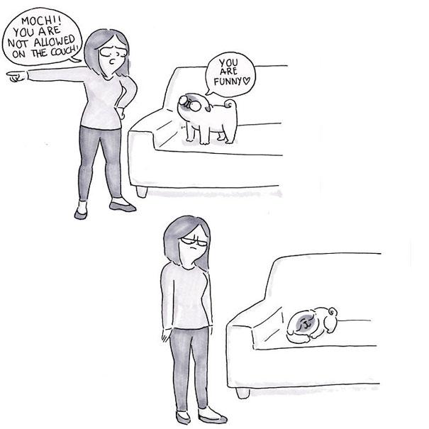 Χαριτωμένα χιουμοριστικά σκίτσα δείχνουν πως είναι να ζεις με έναν σκύλο (32)