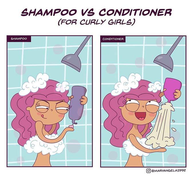 Χιουμοριστικά σκίτσα δείχνουν πώς είναι η καθημερινότητα με σγουρά μαλλιά (9)