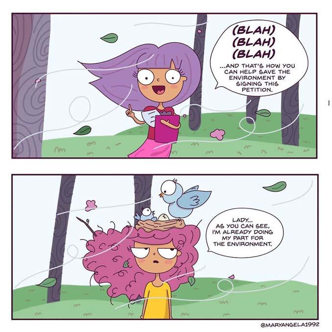 Χιουμοριστικά σκίτσα δείχνουν πώς είναι η καθημερινότητα με σγουρά μαλλιά (12)