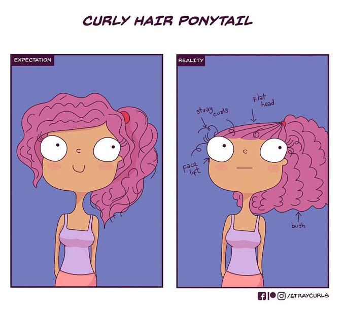 Χιουμοριστικά σκίτσα δείχνουν πώς είναι η καθημερινότητα με σγουρά μαλλιά (13)
