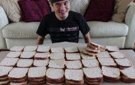 100 φέτες ψωμί του τοστ