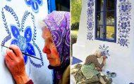 90χρονη γιαγιά μετατρέπει χωριό στην Τσεχία σε έργο τέχνης ζωγραφίζοντας στο εξωτερικό των σπιτιών (17)