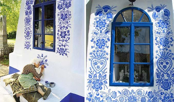 90χρονη γιαγιά μετατρέπει χωριό στην Τσεχία σε έργο τέχνης ζωγραφίζοντας στο εξωτερικό των σπιτιών (14)