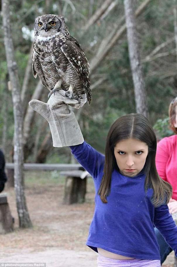 Η τρομακτική Anna Kendrick με την κουκουβάγια της προκάλεσαν ξεκαρδιστικό Photoshop Battle (15)