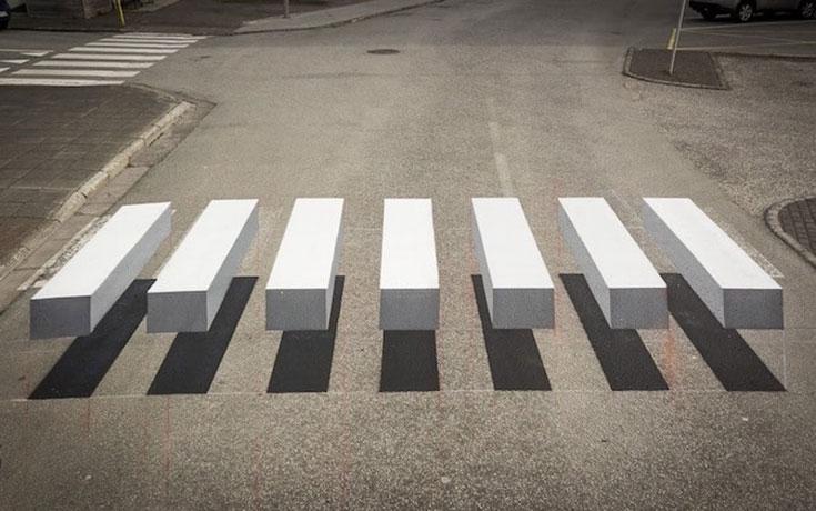 Διάβαση πεζών 3D οφθαλμαπάτη (1)
