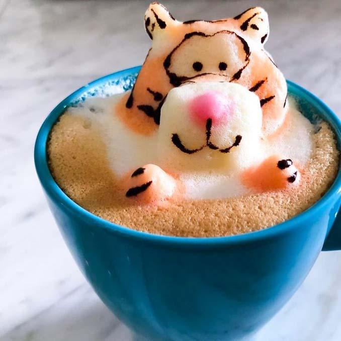 Εκπληκτική 3D Latte Art από μια 17χρονη (2)