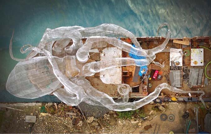 Αυτό το γιγαντιαίο χταπόδι θα βοηθήσει στη δημιουργία ενός τεχνητού κοραλλιογενή υφάλου (1)