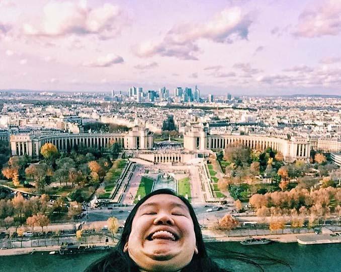 Γυναίκα διακωμωδεί τις τέλειες ταξιδιωτικές φωτογραφίες ποζάροντας με το πηγούνι (16)