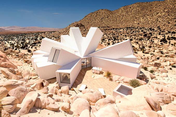 Joshua Tree: Ένα μοναδικό γεωμετρικό σπίτι φτιαγμένο από κοντέινερ (1)