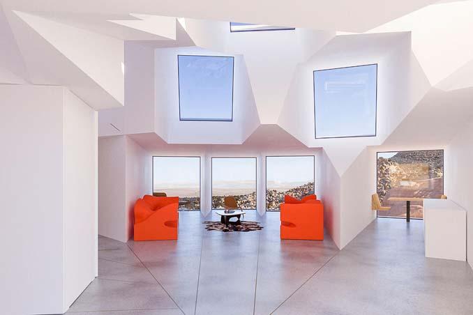 Joshua Tree: Ένα μοναδικό γεωμετρικό σπίτι φτιαγμένο από κοντέινερ (3)