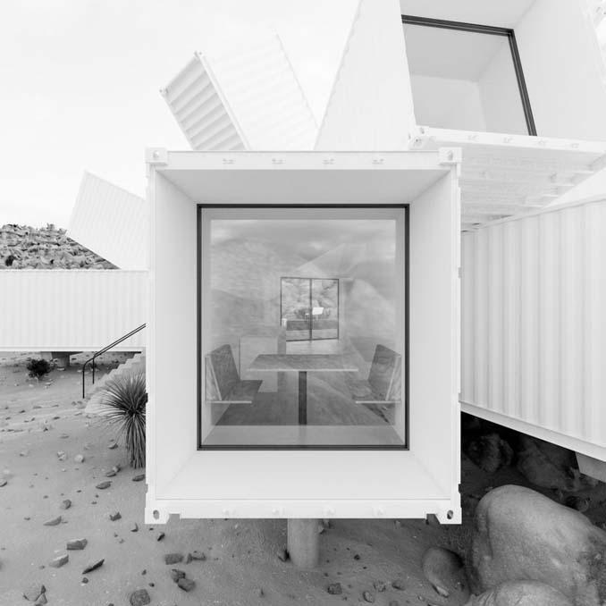 Joshua Tree: Ένα μοναδικό γεωμετρικό σπίτι φτιαγμένο από κοντέινερ (7)