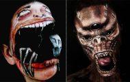 Make up artist μετατρέπει το πρόσωπο της σε εικόνες βγαλμένες από εφιάλτη (23)