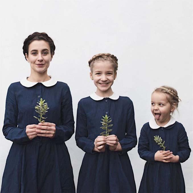 Μητέρα βγάζει απίθανες φωτογραφίες με τις δύο κόρες της φορώντας τα ίδια ρούχα (2)
