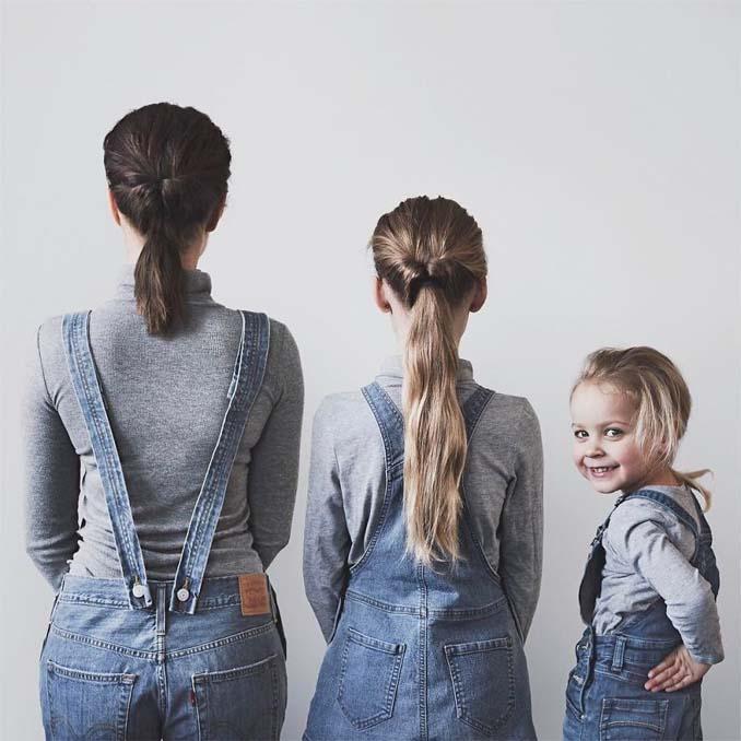 Μητέρα βγάζει απίθανες φωτογραφίες με τις δύο κόρες της φορώντας τα ίδια ρούχα (4)
