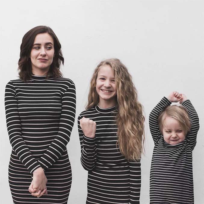 Μητέρα βγάζει απίθανες φωτογραφίες με τις δύο κόρες της φορώντας τα ίδια ρούχα (5)