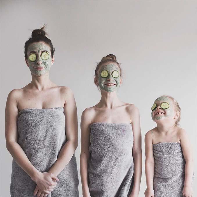 Μητέρα βγάζει απίθανες φωτογραφίες με τις δύο κόρες της φορώντας τα ίδια ρούχα (6)