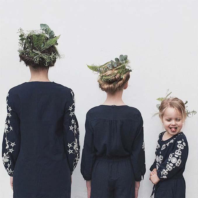 Μητέρα βγάζει απίθανες φωτογραφίες με τις δύο κόρες της φορώντας τα ίδια ρούχα (7)