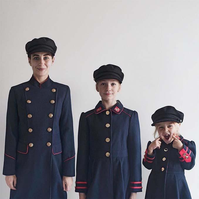 Μητέρα βγάζει απίθανες φωτογραφίες με τις δύο κόρες της φορώντας τα ίδια ρούχα (13)