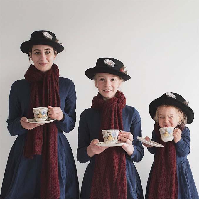 Μητέρα βγάζει απίθανες φωτογραφίες με τις δύο κόρες της φορώντας τα ίδια ρούχα (15)