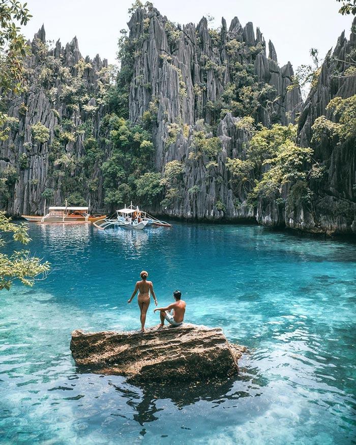 Σουρεαλιστικό τοπίο στο νησί Παλαουάν στις Φιλιππίνες | Φωτογραφία της ημέρας